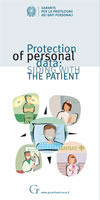 Protection of personal data: SIDING WITH THE PATIENT